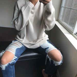 Cream pullover sweater